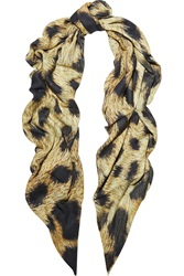 Lily And Lionel Constance Leopard Print Modal And Cashmere Blend Scarf