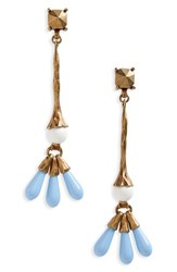 Valentino 'S Drop Earrings A.Gold Bianco Turchese