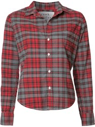 Frank And Eileen 'Barry' Checked Shirt Red