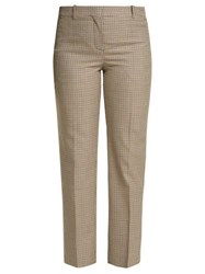 Givenchy Micro Check Wool Trousers Brown Multi