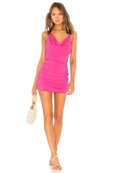 Indah Bunny Cowl Neck Mini Dress Pink