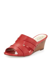 Circa Joan And David Shanna Slide Wedge Sandal Sangria