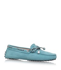 Tod's Gommino Heaven Laced Driving Shoes Female Green