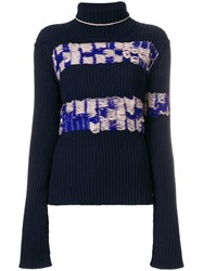 Calvin Klein 205W39nyc Inside Out Effect Sweater Blue