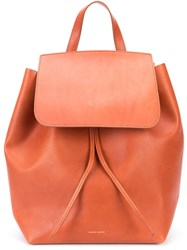 Mansur Gavriel Tumble Backpack Women Leather One Size Brown