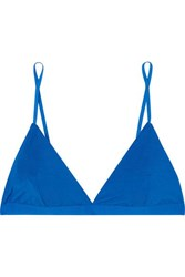 Baserange Net Sustain Mississippi Stretch Bamboo Jersey Soft Cup Triangle Bra Blue