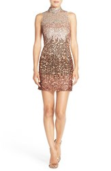 Women's French Connection Ombre Sequin Sheath Dress