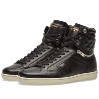 Saint Laurent 34H Quilted Sneaker Black