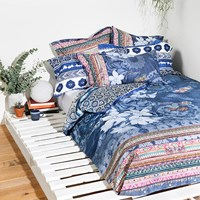 Desigual Exotic Jeans Duvet Cover Blue