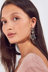 Urban Outfitters Rae 3D Statement Hoop Earring Silver
