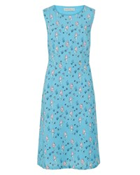 Sugarhill Boutique Aria Mermaid Fit And Flare Dress Blue