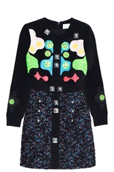 Peter Pilotto Tweed Dress Black