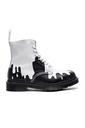 Dr. Martens Pascal 8 Eye Boot Black And White