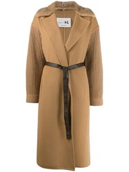 Manzoni 24 Faux Fur Lined Coat Neutrals