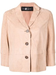 Luisa Cerano Cropped Fitted Jacket Neutrals