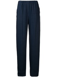 Emporio Armani Loose Fit Trousers Blue