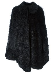 Simone Rocha Round Collar Cape Black
