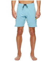 Vissla Solid Sets Washed Four Way Stretch Boardshorts 18.5 Pacific Blue Men's Swimwear
