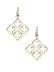 Saks Fifth Avenue Open Design Goldtone Hook Earrings