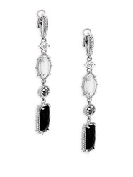 Judith Ripka Harmony Multi Stone Sterling Silver Drop Earrings