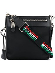 Moschino Logo Strap Messenger Bag Black