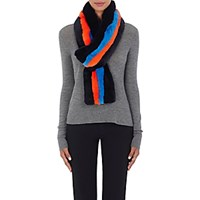 Kule Women's The Lars Striped Rabbit Fur Pull Through Scarf No Color