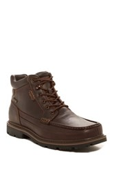 Rockport Leather Moc Toe Waterproof Boot Wide Width Available Brown