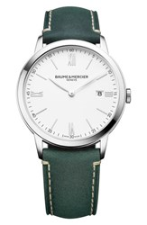 Baume And Mercier Watch 40Mm White Green