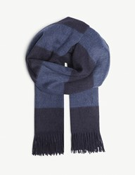 Ralph Lauren Purple Label Cashmere Scarf Blue