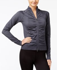 Jessica Simpson The Warm Up Juniors' Ruched Track Jacket Tracery
