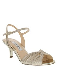Nina Camille High Heel Dress Sandals Taupe