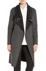 Soia And Kyo Women's Double Face Wool Blend Coat Charcoal