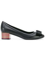 Salvatore Ferragamo Multicolour Heel 'Vara' Pumps Women Calf Leather Leather 8.5 Black