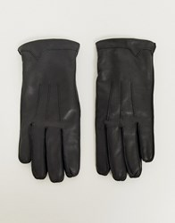 French Connection Classic Leather Gloves Black