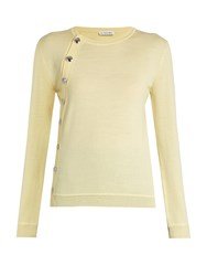 Altuzarra Minamoto Asymmetric Wool Sweater Yellow