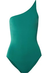 Haight Line One Shoulder Swimsuit Teal