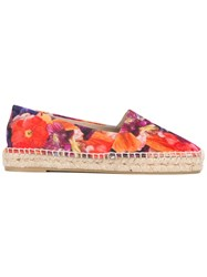 Paul Smith Floral Espadrilles Women Cotton Leather Straw Rubber 40 Red