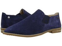 Hush Puppies Analise Clever Royal Navy Suede Women's Slip On Dress Shoes Blue
