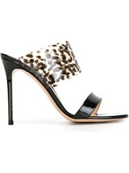 Gianvito Rossi Double Band Sandals Black