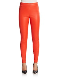 Roberto Cavalli Skinny Leather Pants Paprika