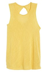 Bobeau Cutout Back Tank Yolk Yellow