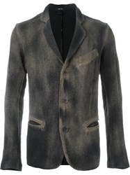 Avant Toi Distressed Knit Blazer Nude And Neutrals