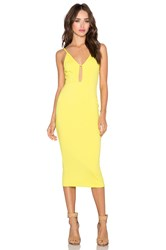 Oh My Love Keyhole Skater Dress Yellow