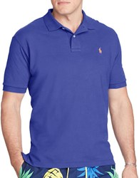 Polo Big And Tall Classic Fit Cotton Mesh Royal