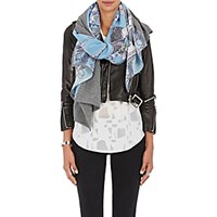 Swash Women's 'Think Of Me' Wool Angora And Silk Scarf Blue