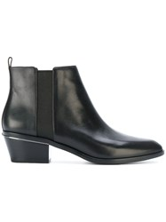 Michael Michael Kors Pointed Toe Boots Women Leather Rubber 8.5 Black