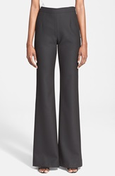 Tracy Reese High Waist Flared Pants Black