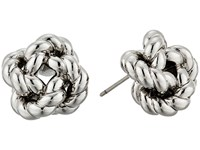 Tory Burch Rope Knot Stud Earrings Tory Silver