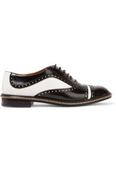 Marc By Marc Jacobs Wingtip Glossed Leather Brogues Black