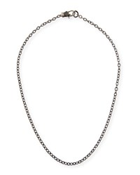 Margo Morrison Rhodium Plated Sterling Silver Chain Necklace With Spinel Clasp 18